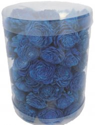 Deco Flowers Cylinder - Small Sola Aster