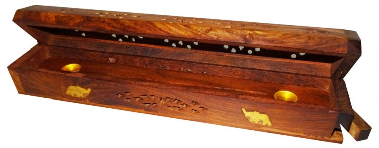 Coffin-style Incense Box - Click Image to Close