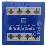 4 hour Tealights - bulk pack of 25