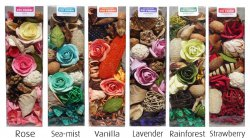 Giftpack of Roses - Deco Pot Pourri Box